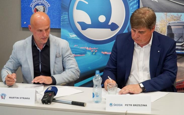 Škoda Transportation dál podporuje plzeňský hokej, generálním partnerem HC Škoda Plzeň bude další tři roky!